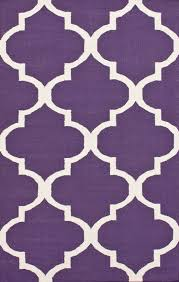 Modern Purple Rugs Tuscan Trellis I Flatwoven Purple Rug Contemporary Rugs Great
