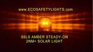 Marine Solar Lights - s6lm amber 2nm ip67 steady on solar led marine dock barge safety