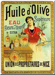 affiche cuisine retro cartexpo m15669 alimentation carte huile d olive supérieure métal