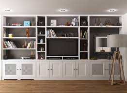 Built In Bookshelves With Window Seat Best 25 Shelves Around Tv Ideas Only On Pinterest Media Wall