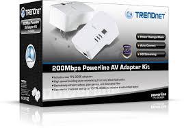 tpl 308e2k trendnet 200 mbps powerline ethernet av adapter kit