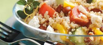 comment cuisiner le quinoa recettes salade de quinoa à la grecque recette plaisirs laitiers