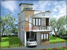 House Elevation One Side Open Plot Elevations