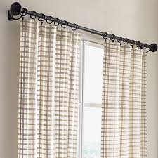 Sheer Panel Curtains Ross Sheer Curtain Panels In Curtains Crate And Barrel