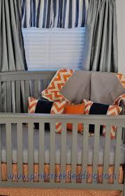 navy orange blue crib bedding illini homes pinterest blue