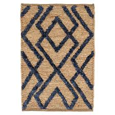 Dash And Albert Diamond by Marco Navy Jute Soumak Woven Rug Dash U0026 Albert
