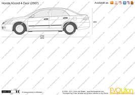 2007 honda accord dimensions the blueprints com vector drawing honda accord 4 door