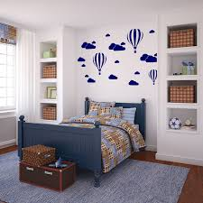childs room white clouds hot air balloons nursery kids childs room vinyl