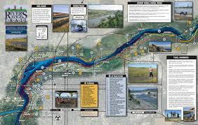 Montana Road Report Map by River U0027s Edge Trail City Of Great Falls Montana