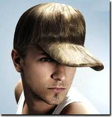 baseball cap hairstyle shaped now by a white man men s