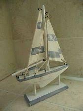 seaside nautical shabby chic wooden sailing boat bathroom ornament