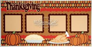 blj studio thanksgiving scrapbook layout pages
