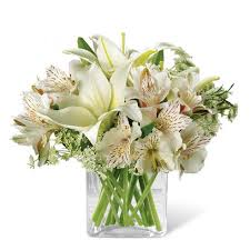 white lillies a white gift of thanks at send flowers