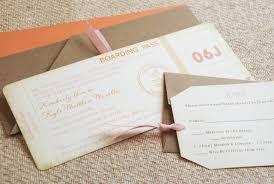 boarding pass wedding invitations vintage travel boarding pass wedding invitation