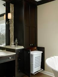 hidden laundry hamper bathroom cabinet with built in laundry hamper awesome home design