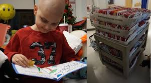 update christmas cards arrive by the thousands for little boy d