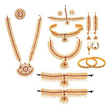 complete set bharatanatyam jewellery with all the 10 separate