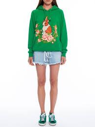 gucci u2013 rabbit jersey oversize sweatshirt kirna zabête