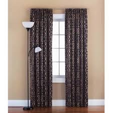 Walmart Mainstays Curtains Mainstays Distressed Damask Room Darkening Rod Pocket Polyester