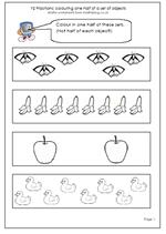 year 2 maths worksheet finding halves pg 2 maths blog