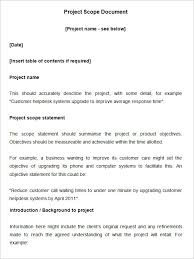 scope of work template 31 free word pdf documents download