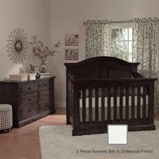 Crib Convertible by Munire Chatham 2 Piece Nursery Set Curve Top Crib Convertible