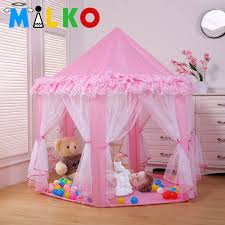 aliexpress com buy kids princess lace teepee castle baby play