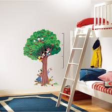 int1514slm mickey friends growth chart wall decals metric int1514slm wall stickers wall decor wall decals tree self adhesive roommates room decor repositionable removable