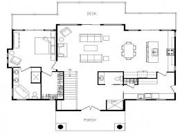 open floor plans for small ranch style homes with deck house floor