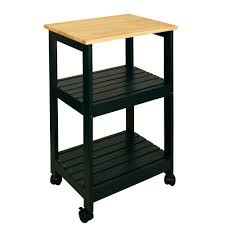 Microwave Cart Home Depot Catskill Craftsmen Black Kitchen Cart With Shelf 81516 The Home