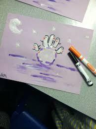 cute winter kids craft penguin handprints and icebergs kid