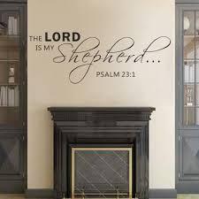 scripture wall stickers promotion shop for promotional scripture psalm 23 1 scripture wall sticker vinyl bible verse art 33cm x 86 4cm