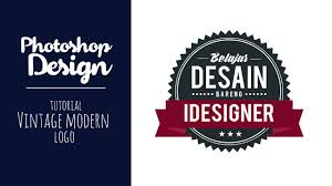 tutorial photoshop cs5 membuat logo photoshop membuat logo vintage modern tutorial photoshop youtube