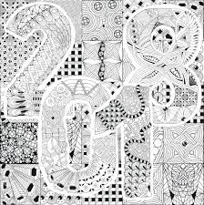 hand drawn doodle background for coloring page number 2018 stock