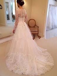 line wedding dresses v neck lace wedding dress with sleeve tbdress com