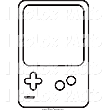 royalty free gameboy stock coloring page designs