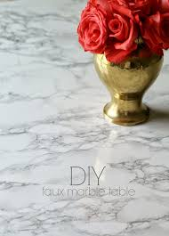 diy faux marble tulip table shannon claire