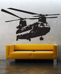 military wall decal designs vinyl wall decal sticker chinook helicopter 1274