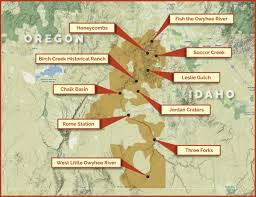 Joseph Oregon Map by Owyhee Canyonlands Getting There
