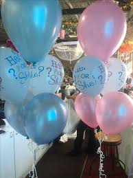 gender reveal balloons baby shower he she reveal confetti filled balloon