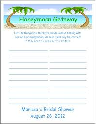 honeymoon bridal shower honeymoon bridal shower search wedded bliss