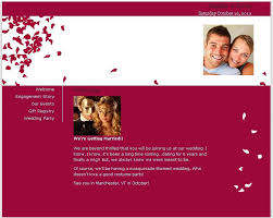 registry wedding website your story and important wedding details with our free