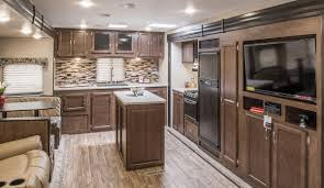 Trailer Kitchen Cabinets Kitchen Amazing Rear Kitchen Travel Trailers Class C Rv With Rear