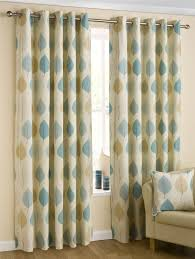 Danielle Eyelet Curtains by Homescapes Duck Egg Blue Cream Eyelet Ring Top Cotton Curtains