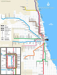 Chicago Public Transit Map by Maps Update 7001148 Tourist Map Of Downtown Chicago U2013 15