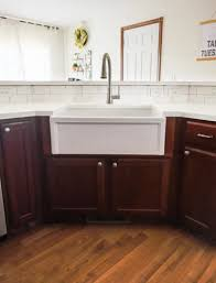 white kitchen cabinets with farm sink diy farmhouse sink installation easy step by step tutorial