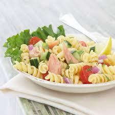 Cold Pasta Salad Recipe Salmon Pasta Salad Recipe With Mint And Lemon Vinaigrette