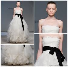 Vera Wang Wedding Dresses 2011 Glamorous Black And White Bridal Gowns Wedding Dress
