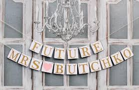 Bridal Shower Signs Bridal Shower Banners Future Mrs Signs Last Name Wedding Shower