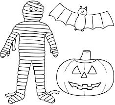 halloween bat coloring pages pumpkin mummy coloringstar inside